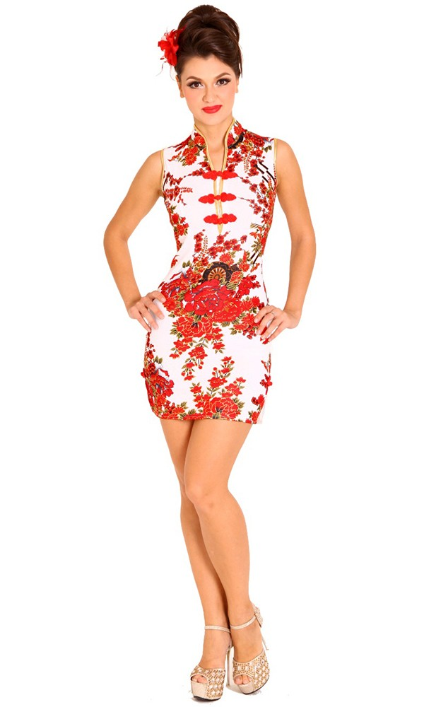be38e84648da Sleek Floral Qipao Dress - Cheongsams & Qipaos - aFashion