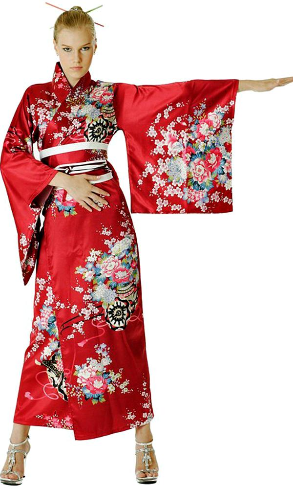 Elegant Red Kimono Kimonos Amp Yukatas Afashion