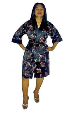 Reversible Silk Robe