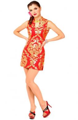 Short Red Asian Dress