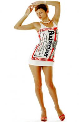 Sexy White Budweiser Dress