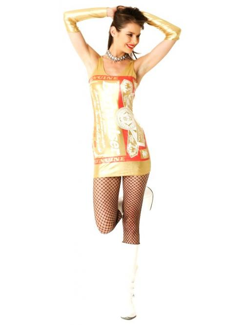 Gold Metallic Budweiser Dress