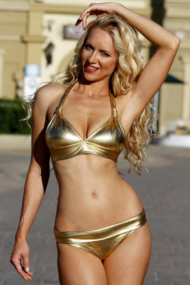 Sublime Banded Metallic Bikini - Sexy Bikinis