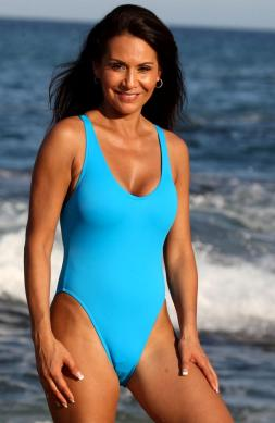 Uptown Turquoise One Piece Swimsuit
