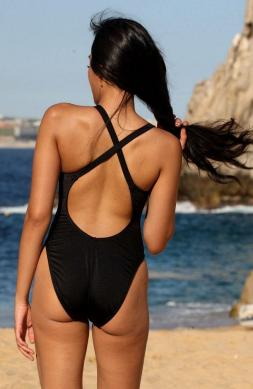 Engaging Black One Piece Swimsuit