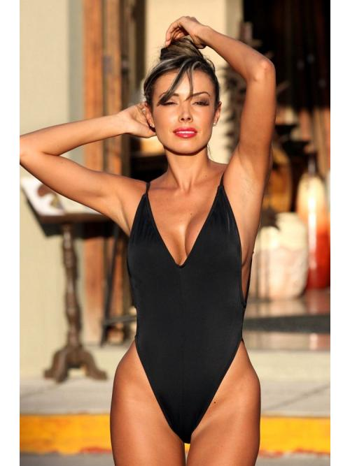 Exalted Black One Piece Swimsuit