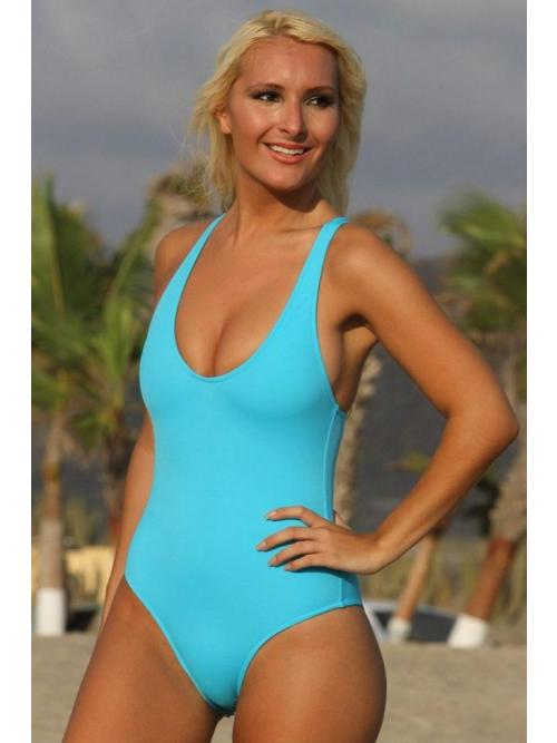 Neat Clever Blue One Piece Swimsuit