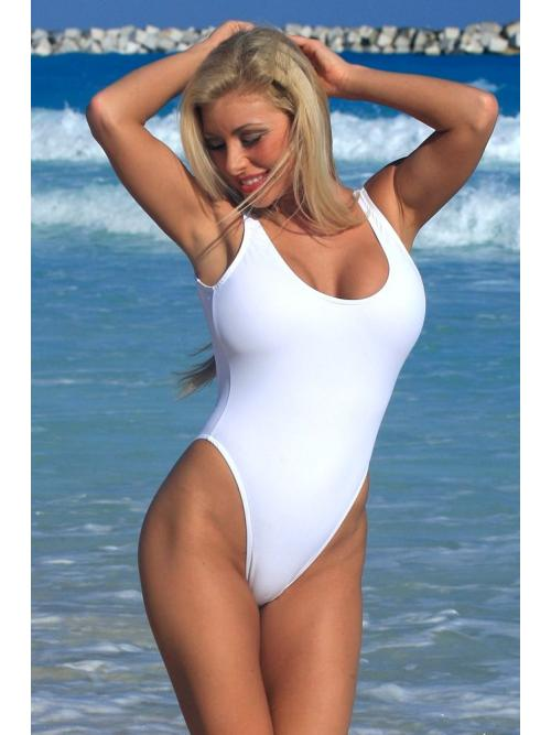 Inviting White One Piece Swimsuit