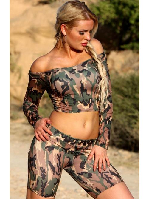 Tasteful Camo Top