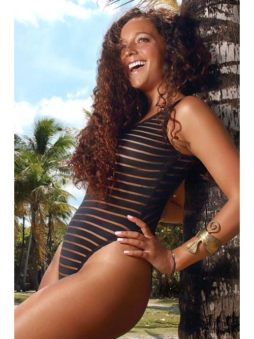 In Style Stripes One Piece Swimsuit