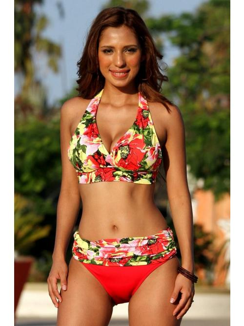 Captivating Minimizer Print Bikini