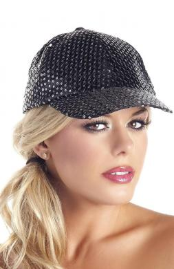 Sequin Baseball Hat Black
