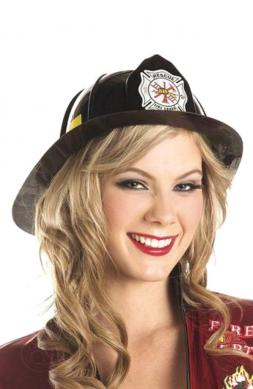 Fire Fighter Hat Black