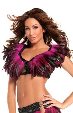 Wondrous Exotic Feathers Top