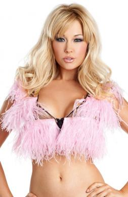 Faddy Ostrich Feather Top