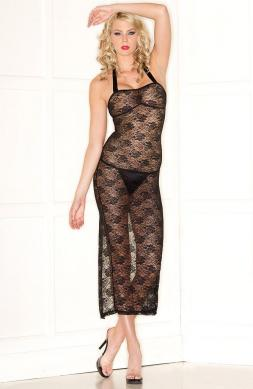 Ambrosial Lace Halter Dress