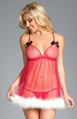 Sheer Unlined Babydoll