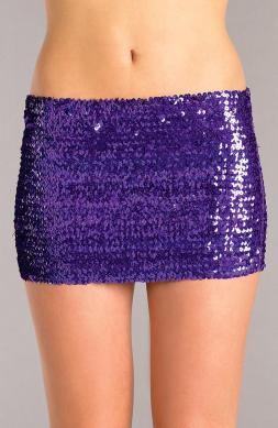 Sequin skirt Purple