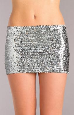Sequin skirt Silver