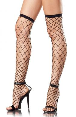 Spandex Fence Net Thigh High Stockings