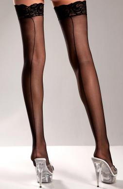 Stay Up Lace Top Sheer Stockings