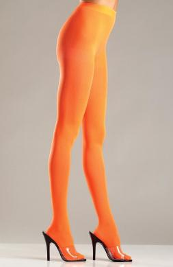 Orange Opaque Nylon Pantyhose