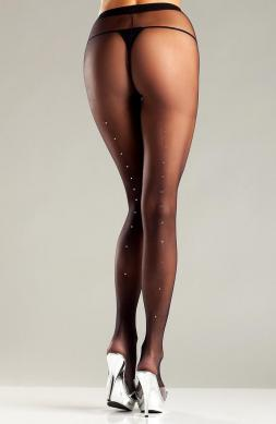 Vivacious Sheer Black Pantyhose