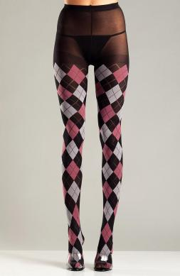 Mystical Black and Fuchsia Argyle