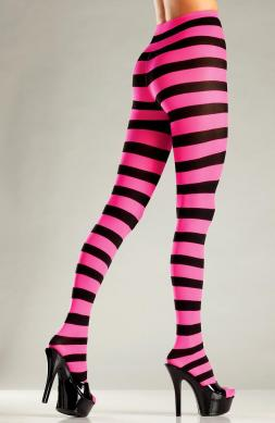 Heavenly Wide stripe opaque pantyhose