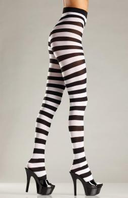 Scrumptious Wide stripe opaque pantyhose