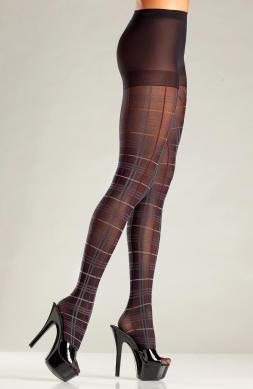 Plaid pantyhose with