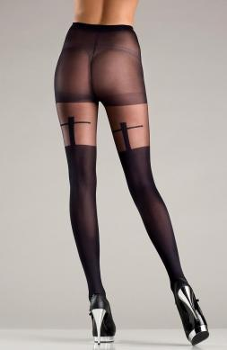 Appealing Sheer Black Pantyhose