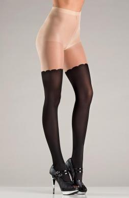 Spandex two tone pantyhose