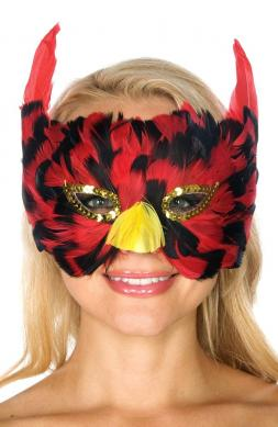 Redbird Feather Mask