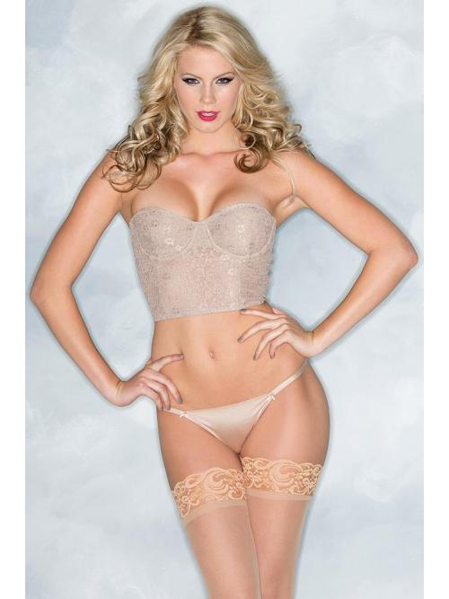 Modern Lace Cropped Bustier