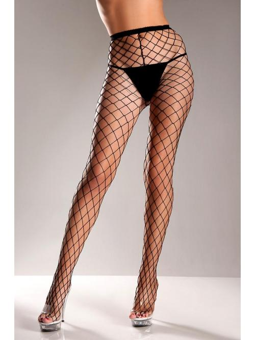 Fence net pantyhose Black