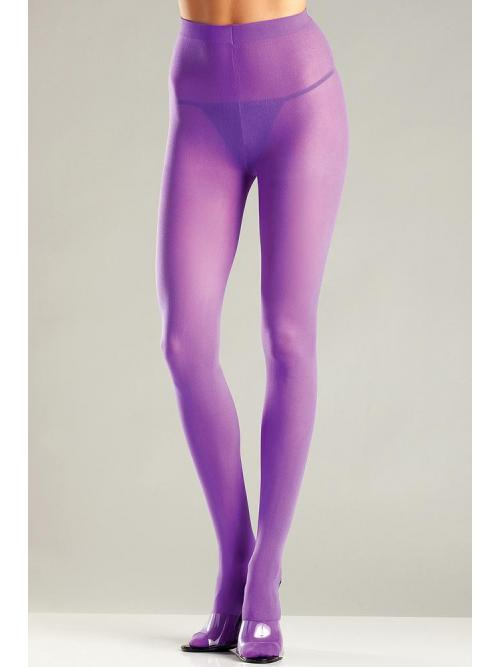 Winning Purple Opaque Nylon Pantyhose