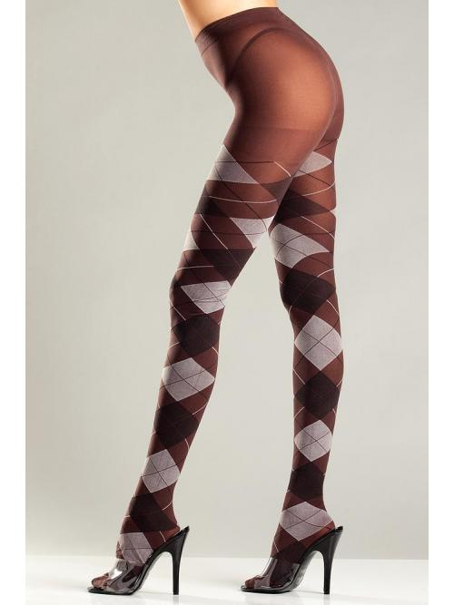 Exquisite Brown and Grey Argyle