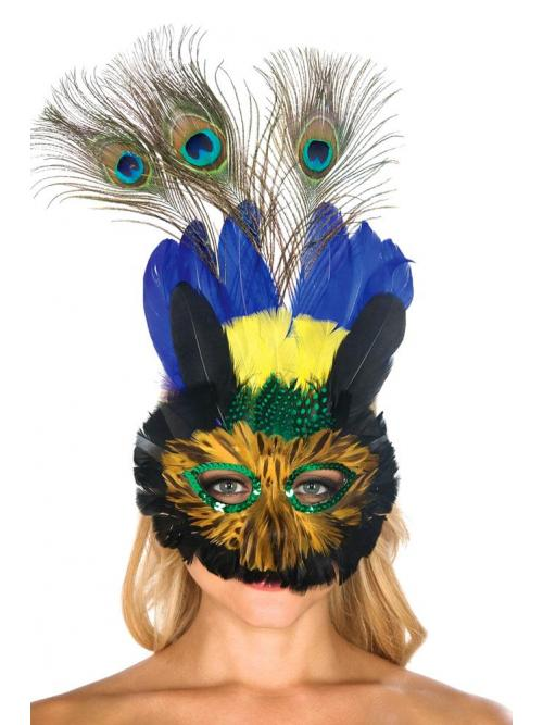 Mysterious Peacock Mask