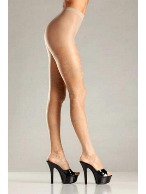 Magnetic Opaque floral woven pantyhose