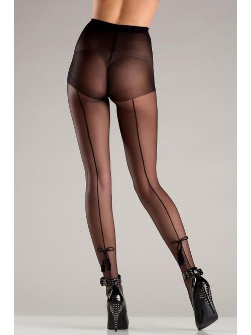 Spandex sheer back seam