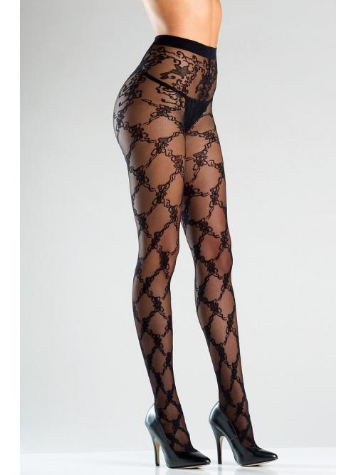 Sheer tights with floral