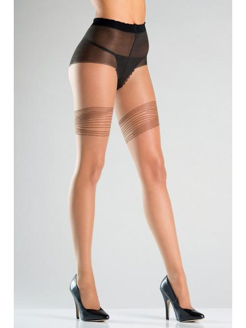 Opaque tights with thigh